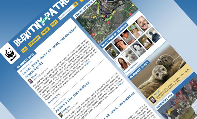 Blog wolontariuszy WWF, tak wyglądał projekt graficzny